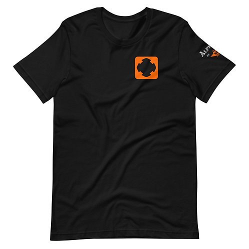 T-Shirt | Badges of Honor (Firefighter, Black & Orange)