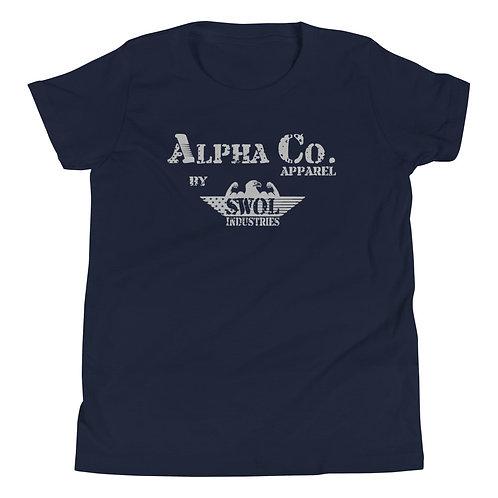 Youth T-Shirt   Alpha Co. Apparel (Dark)