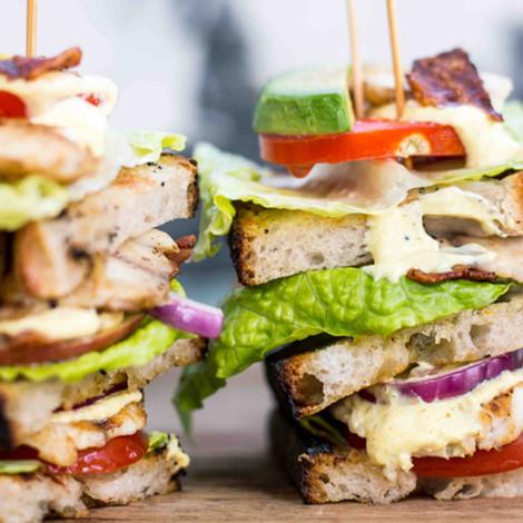 BLT sandwich med Rödstrimma