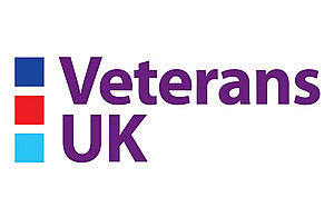 The Veterans UK logo. MOD Crown Copyright 2020