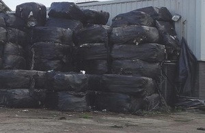File: Baled waste is usually left on private ground, leaving landowners to clear it at their expense
