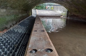 The new fish pass in Norwich. Picture credit: Fishtek