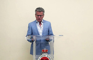 Governor Dakin announces new Deputy Police Commissioner