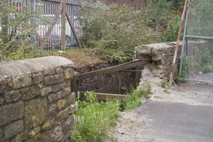 Part of the wall fell into the Malago Brook