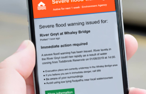 Residents at Whaley Bridge were able to access the Environment Agency's flood warnings through Google for the first time this week