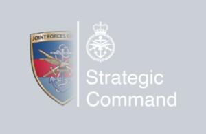 UKStratCom logo. MOD Crown Copyright
