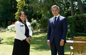 Priti Patel met the French Interior Minister Gérald Darmanin