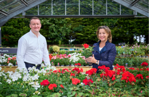 Environment Minister Rebecca Pow and Dobbies GEO Graeme Jenkins. Credit: Dobbies Garden Centre