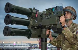Lightweight Multiple Launcher (LML) tripod system. MOD Crown Copyright 2021