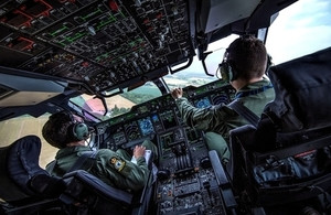The cockpit of a Royal Air Force A400M Atlas. MOD Crown Copyright