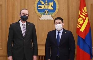 HMA Philip Malone and Prime Minister of Mongolia L.Oyun-Erdene