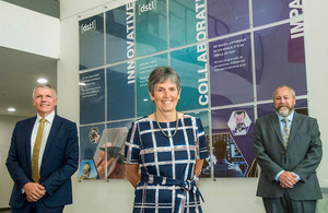 Dstl Chief Executive Gary Aitkenhead, the Commissioner of the Metropolitan Police, Dame Cressida Dick and Dstl's Mike Smith