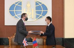 HMA Malone and Deputy Foreign Minister Munkhjin.B
