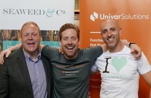From left: Gary Abraham of Univar Solutions with Ricky Wilson and Dr Craig Rose at the signing of the new distributor agreement