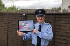 Overall CARA Winner Flt Lieutenant Grahame Kirsopp. Award sponsored by Scottish Rugby Union. Copyright Lowlands RFCA 2020