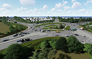 How the Chowns Mill junction will look when completed