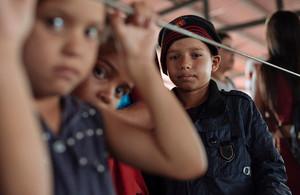 Venezuelan children at a migration centre in Colombia. Picture: UNICEF/Santiago Arcos