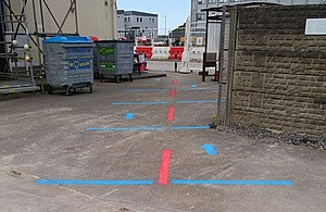 Safety measures in place for the re-start of the project