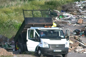 Owen Crumlish was caught fly-tipping on CCTV