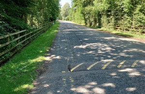 The long driveway to the lakes which could get clogged up by parked vehicles before the lines were repainted