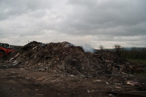 The illegal waste site near Pershore