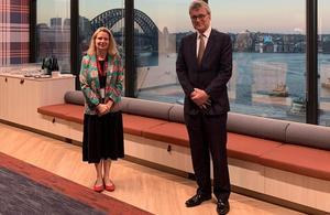 Louise Cantillon with her predecessor, Michael Ward