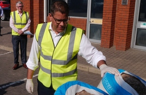 Mr Sharma's call to companies came as he visited Instagroup in Wokingham, where he saw how people there can use their expert skills to make homes more energy efficient