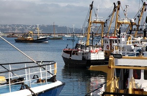 English fishing boats in Brixham Harbour