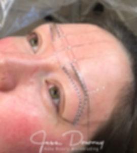 Boho Beauty Microblading Eyebrow Mapping