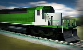 Low Poly Train Engine