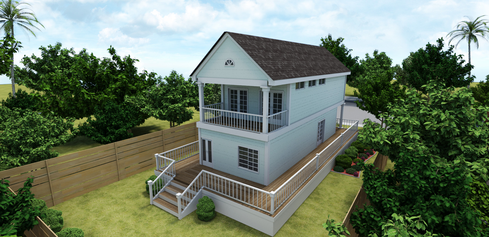 Traditonal Style Container Home View 2