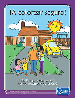 ColorMeSafe coloring book Spanish