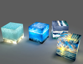 Backlit cubes