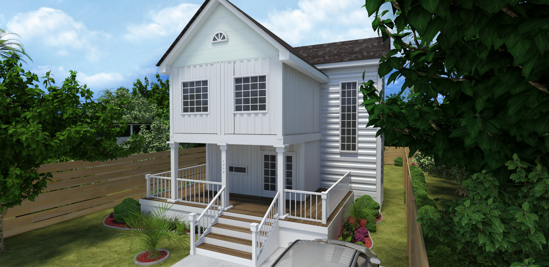 Traditonal Style Container Home View 04