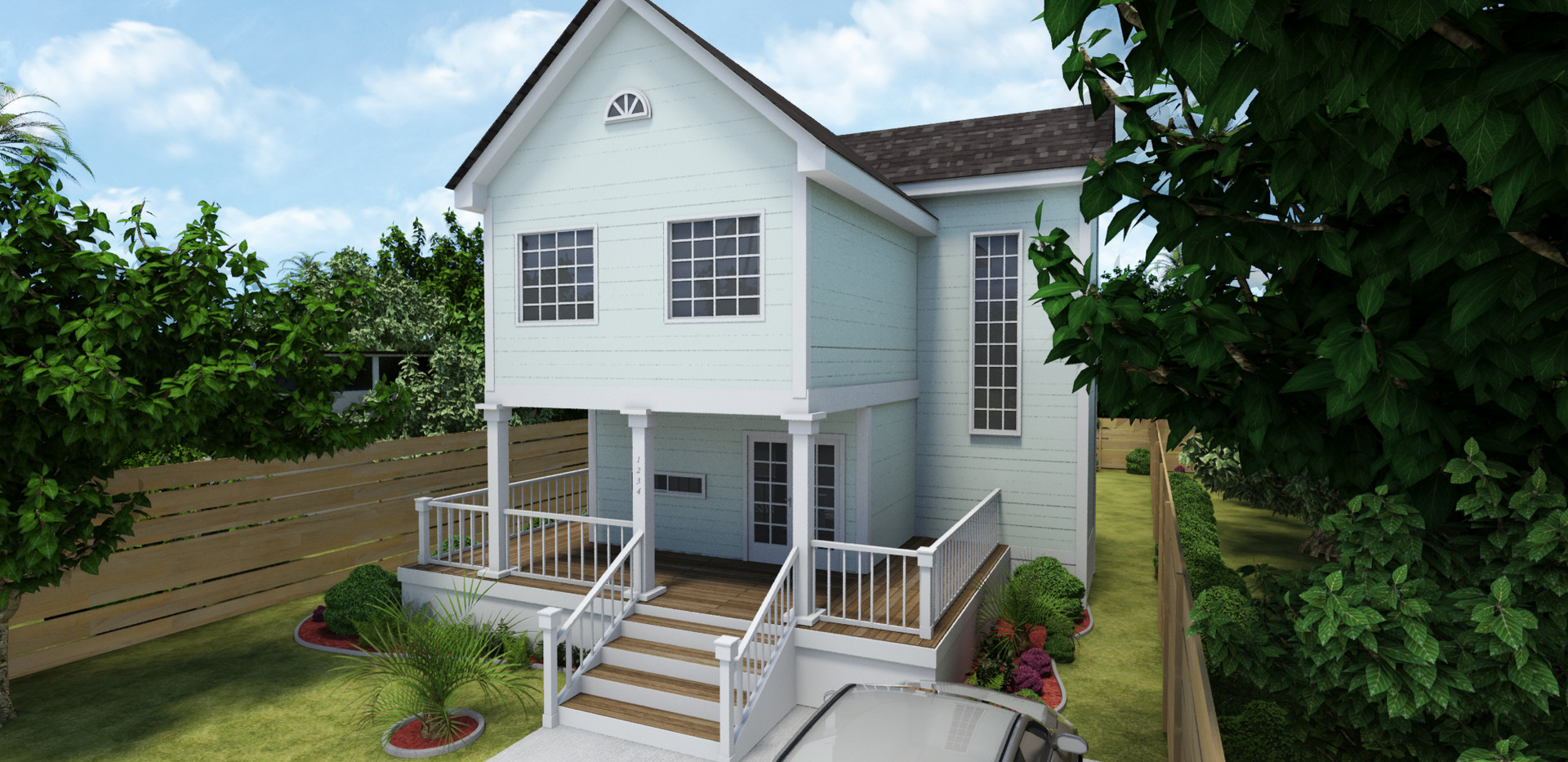 Traditonal Style Container Home View 1