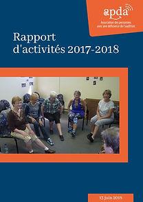 Rapport d'activités APDA 2017-2018