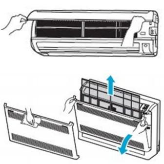 Очистка воздушных фильтров кондиционера