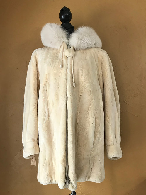 Beaver Shearling with Hood
