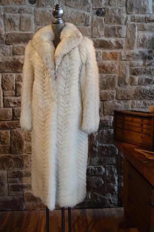 Medium Blue Fox Full-Length Coat