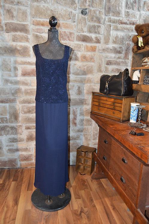 XL (18W) Alex evening Navy Sparkle Gown