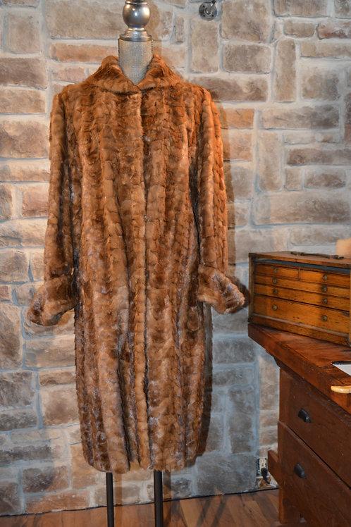 Large Autumn Haze Mink Sections Coat