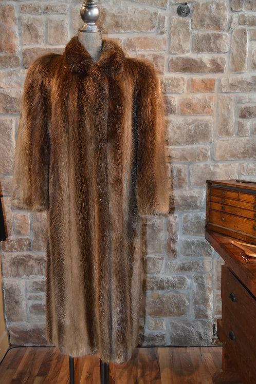 Medium Full-Length Beaver Coat