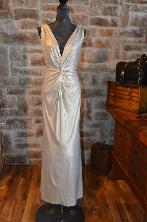 XL (16) Calvin Klein Gold Twisted Metallic Gown
