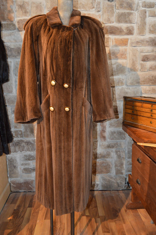Large Sheared Mink Trench Style