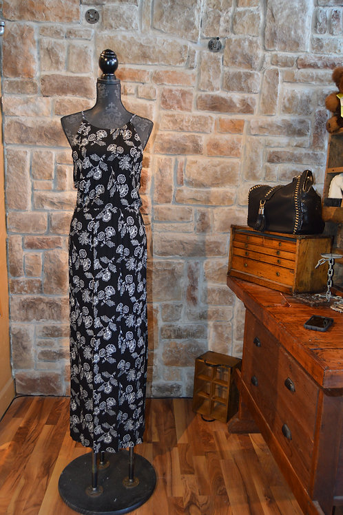 Large Black and White Maxi Dress
