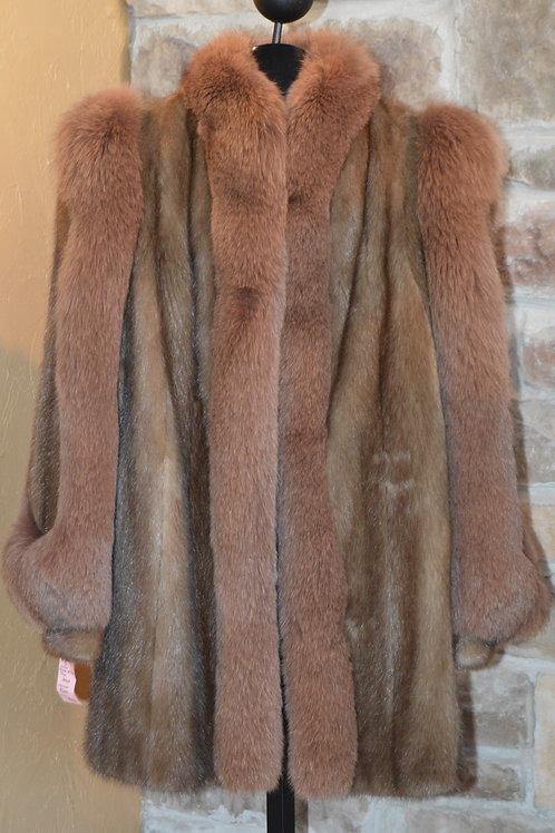 Mink with Fox Fur Trim