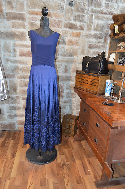 XL Navy Evening Gown By Patra