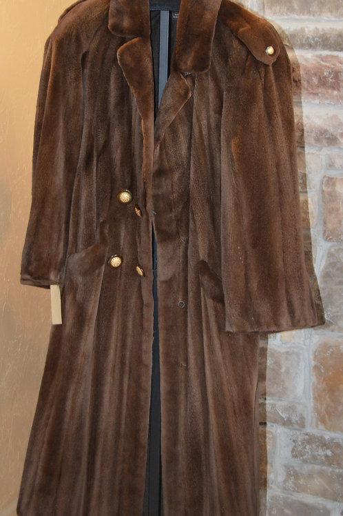 Sheared Mink Trench Coat