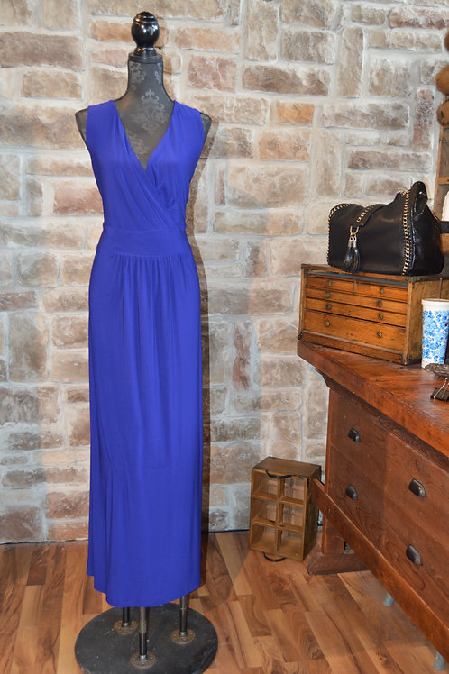 XL Royal Blue Empire-waisted Gown