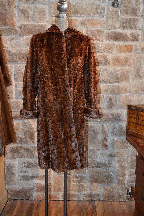 Medium Ranch Mink Sections Swing Coat